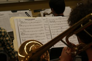 The jazz ensemble is comprised of 30 students who were selected after a round of