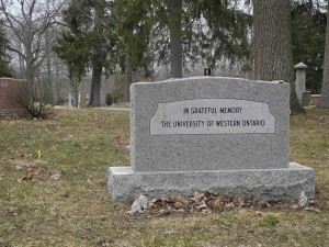 Donors who have bequeathed their bodies to scientific research at Western are laid to rest and commemorated at Woodland Cemetery.