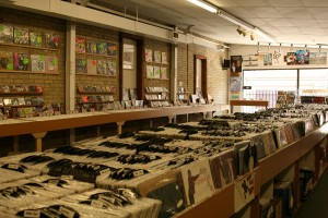 Grooves Record Store has rows and shelves full of new and used vinyl and CDs.