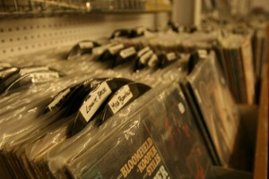 Records at Grooves are arranged by genre and artist.