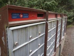 Community mailboxes like this one in Shawnigan Lake, B.C. are coming to Canadian cities beginning this year.