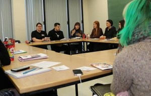 Pablo Godoy attends a Women Works and Union class at Brock University