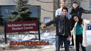 Members of S.A.M.E. pose for a picture at McMaster University