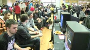 Gamers play Super Smash Bros. at Project Play in November