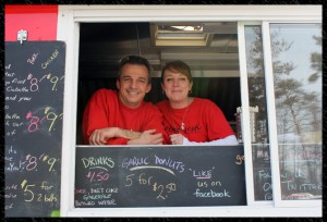 Jim and Lori Godina with their food truck Dobro Jesti. Photo courtesy of Dobro Jesti.