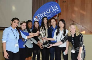 The finalists for 2013's Take the Lead Contest at Brescia. Photo Courtesy of Brescia University College