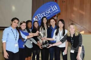 The finalists for 2013's Take the Lead Contest at Brescia. Photo Courtesy of Brescia University College