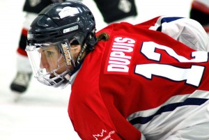 Lori Dupuis has played with Hefford on the Varsity Blues, Brampton Thunder and has won two Olympic medals on Team Canada.   Photo courtesy of Lori Dupuis