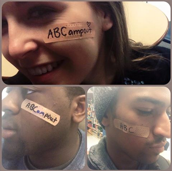 Western students wear band aids to signify that mental health needs to be visible. Photo courtesy of Facebook