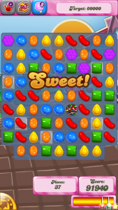 Candy Crush Game Screen