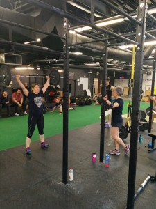 Kim Levy lifting barbell