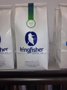 Kingfisher Coffee sells its product wholesale to local shops.