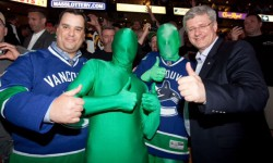 The Green Men with Prime Minister Stephen Harper
