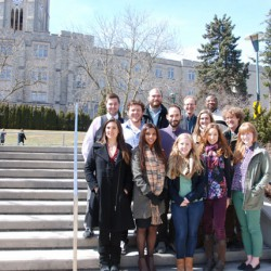 The 2013 print specialists gather near Middlesex College to commemorate the end of a successful year.