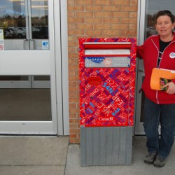 "Jude McHugh calls the public letterbox an ""endangered species."""