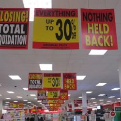 Target sales signs