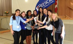 Finalists for 2013's Take the Lead Public Speaking contest. Courtesy of Brescia University College.