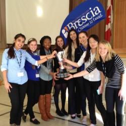 Finalists for 2013's Take the Lead Public Speaking contest. Courtesy of Brescia University College.
