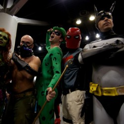 Photo of super heroes and villains