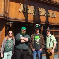 St. Patrick's Day celebrators came out as early as 11 a.m. looking their best in green. <br /> Photo by Amy Legate-Wolfe <br />