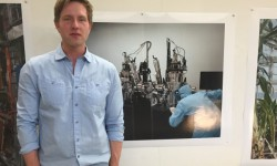 Mark Kasumovic with his current favourite photograph that he's taken <br /> Photo courtesy of Rima Hamadi <br />
