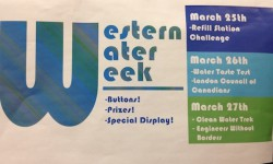 Western Water Week is holding its last day of events Friday in the basement of the UCC. (Photo: Emily McWilliams)