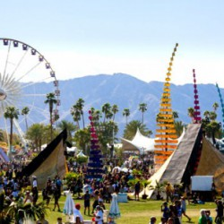 The Coachella Music and Arts Festival in 2013.  <br />Photo courtesy of Twitter.