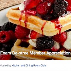The Kitchen and Dining Room Club will be serving free waffles to its members, this Thursday, for a sugar-filled study break.