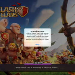 Clash of Clans' loading screen promotes pay-to-win options