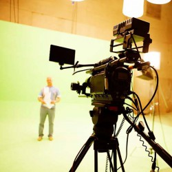 A student auditions for the Movie and Video Production Club at UWO. <br /> Prhoto courtesy of the MVP Facebook Page. <br />