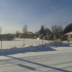 Construction equipment at Burl's Creek Event Centre in Oro-Medonte. <br />Photo courtesy of Ann Honeywood<br />