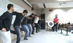 The Al Asala dance group holding a practice session at Western University <br /> Photo by Chris Vandenbreekel <br />