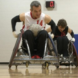 Wheelchair rugby provides an outlet for some people to overcome obstacles <br /> Photo by Jonathan Juha <br />