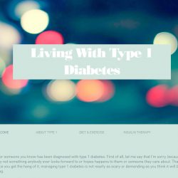 Screen grab of living with type 1's homepage