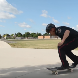 London police officer on a skateboard