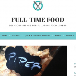 full time food blog screen capture